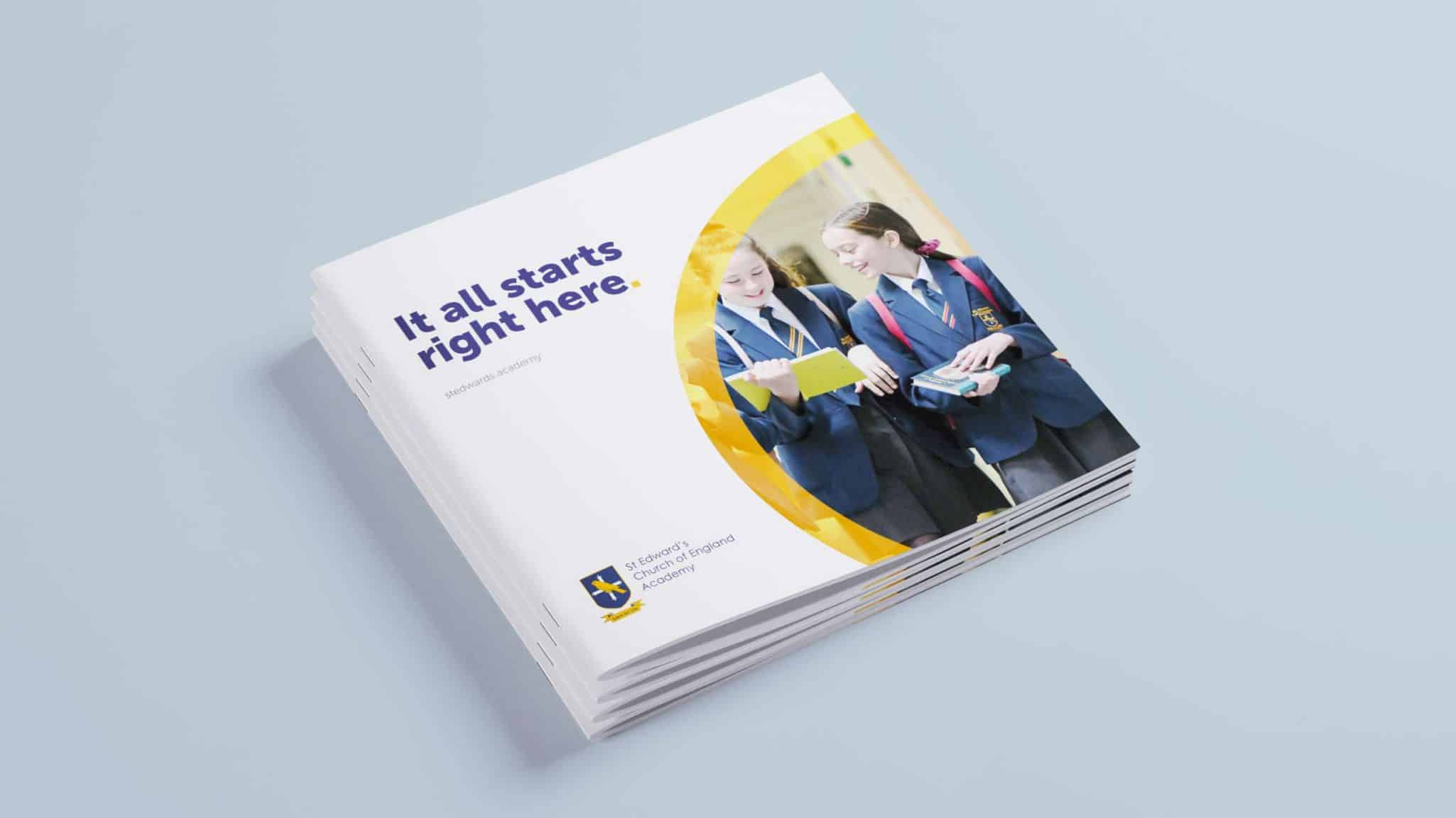 St Edward's Church of England Academy Booklet Cover